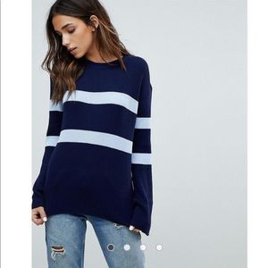 Boohoo striped wide sleeve Jumper